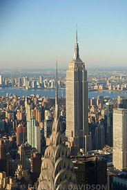 Aerial photograph of the Empire State Building in New York City.