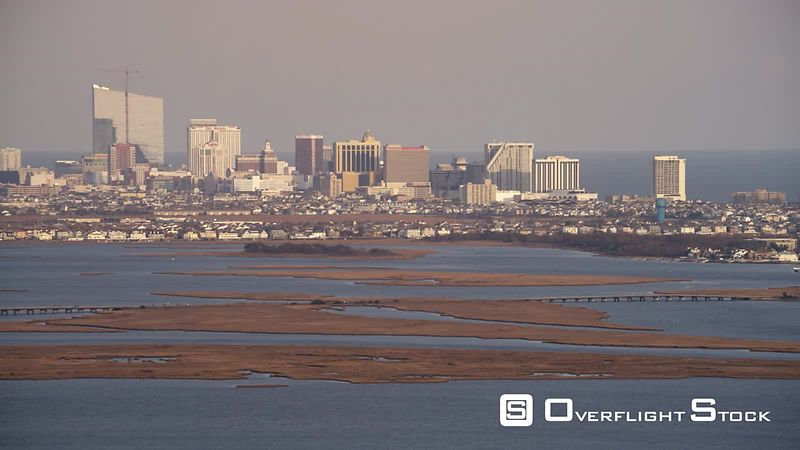 Approaching Atlantic City, New Jersey. Shot in November