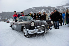 Oldtimer Cars Cresta Run 125 Anniversary Celebrations 1885-2010 on Lake of St. Moritz