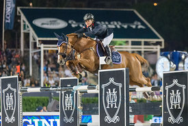 Marie Hecart (FRA) riding Myself de Breve at the CSIO Barcelona on 10.10.2014, Longines Cup of the City of Barcelona, Club Real de Polo, Barcelona, Spain
