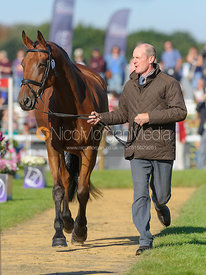 Gary Parsonage and SLIGO LUCKYVALIER - The final trot up, Burghley Horse Trials 2013.