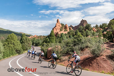 The Garden of the Gods Park provides an incredible backdrop for the opening stage of the Colorado Classic.