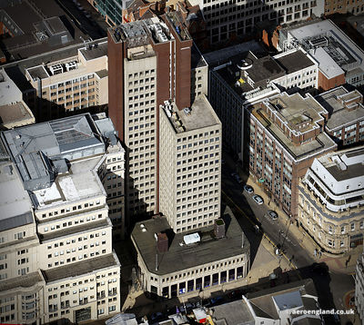 aerial photograph103 Colmore Row Birmingham, West Midlands England UK