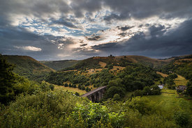 Summer storm at Monsal Dale