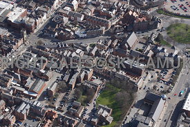 Chester aerial view White Friars and Cuppins Street Chester