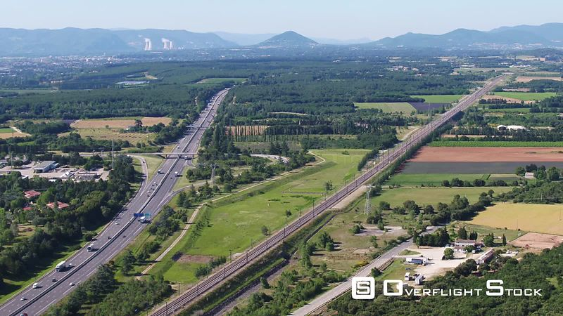 A7 Highway of Malataverne, viewed from drone