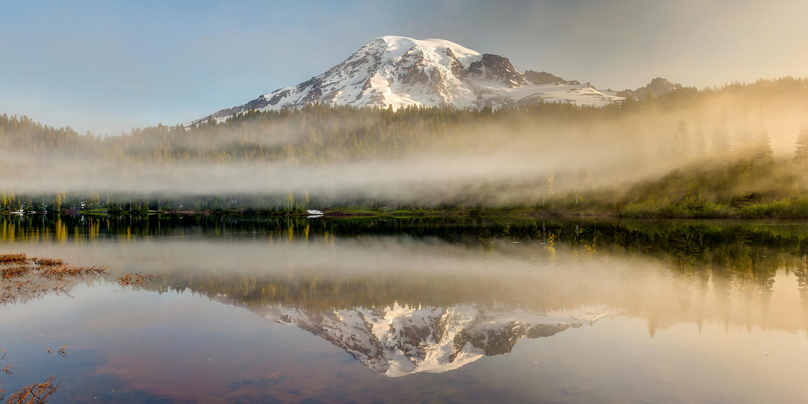 Reflection Lake Sunrise Panorama