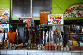 Municipal fish market , Iquique , Region I , Chile