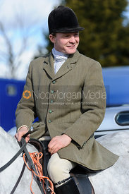 Will Grant at the meet at Ladywood Lodge