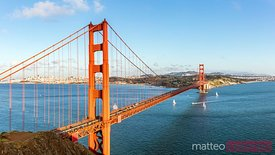 Golden gate bridge and bay, San Francisco, California, USA