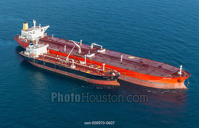 Oil tanker lightering in the Gulf of Mexico