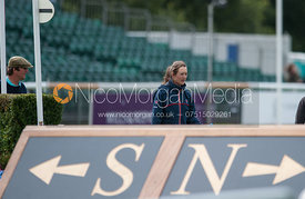 Willa Newton heads North - dressage phase,  Land Rover Burghley Horse Trials, 30th August 2012.
