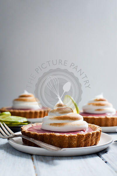 Hibiscus Strawberry Curd Tarts with Toasted Meringue {gluten-free}