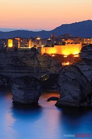 Bonifacio at night, Corsica, France