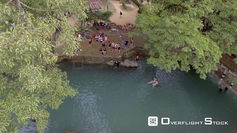 Blue Lagoon of Village of Vang Vieng Laos