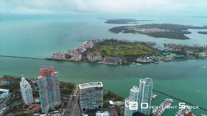 Fisher Island Drone Video South Beach Miami Florida