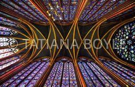 Upper interior of Sainte-Chapelle
