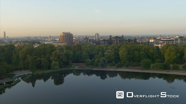 Drone Video Hyde Park Serpentine View and Housing London UK