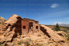 Restored Building 1 at Inca site of Incaraqay above Sipe Sipe, Cochabamba Department, Bolivia