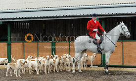 Andrew Osborne MFH with the Cottesmore hounds a the meet - The Cottesmore Hunt at Ranksboro, 26-11-13.