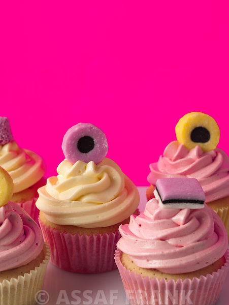 Cupcakes with Liquorice Allsorts decoration