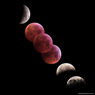 2019 - France - Eclipse totale de lune - Upaix