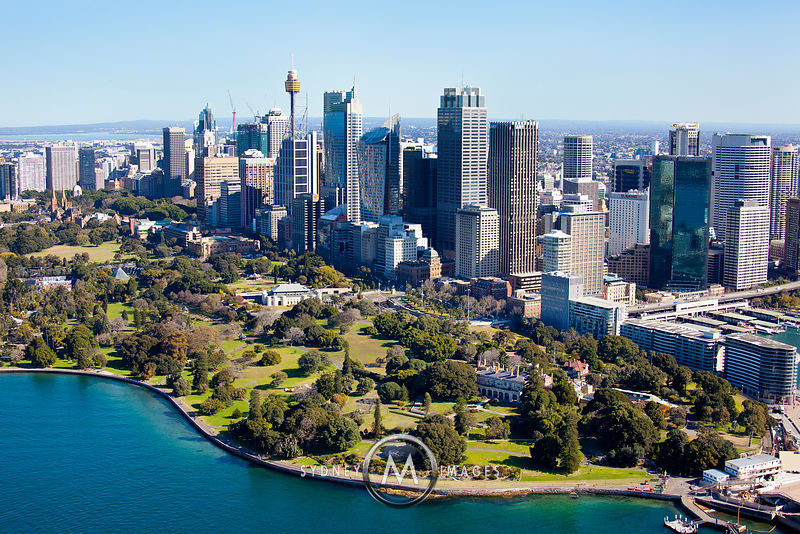 sydney aerial photography the domain sydney. Black Bedroom Furniture Sets. Home Design Ideas