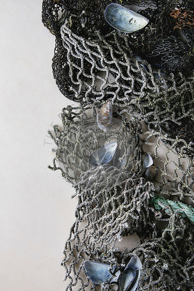 Old sea fishing nets