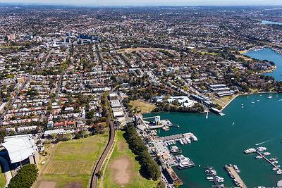 Sydney aerial photography glebe for 11 westmoreland terrace