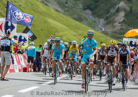 Team Astana on Col du Lautaret