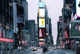 Dawn on Times Square