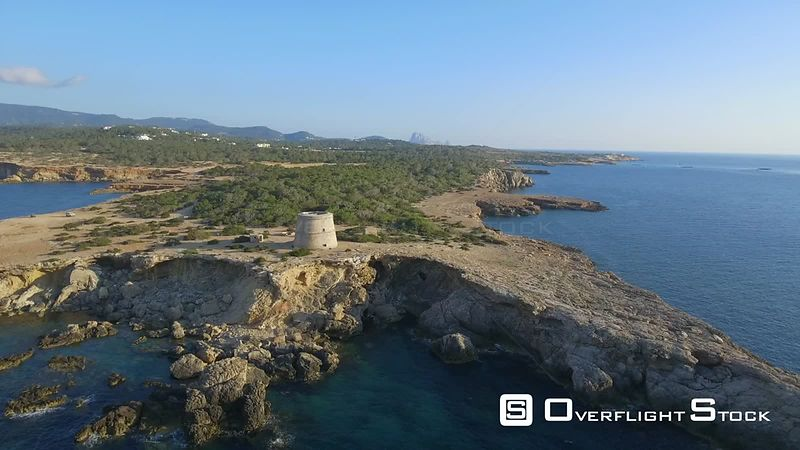 Pirate Tower Punta des Farallons Ibiza Island Mediterranean Sea Spain