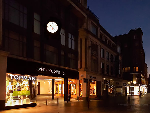 Liverpool Shops at Night