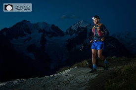 Runner at the Swiss Iron Trail, 2018. Engadine, Switzerland.