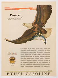 Gadoline advert using an eagle motif to portray power