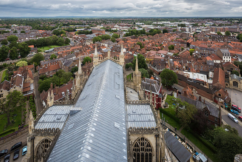 View of the City of York from the Tower of York Minster