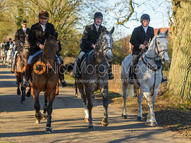Roger Weatherby, Tom Queally, Shane Kelly leaving the meet in Owston