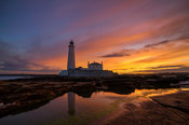 St. Mary's Lighthouse Sunset