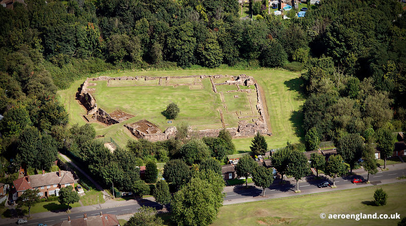 aerial photograph of Weoley Castle Birmingham, West Midlands England UK