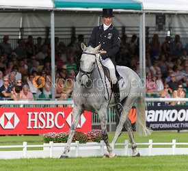 Andrew Nicholson and AVEBURY - dressage phase,  Land Rover Burghley Horse Trials, 5th September 2013.