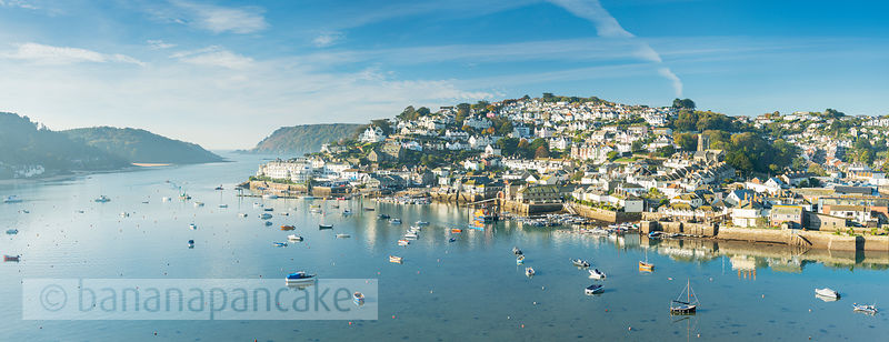 BP6565- Panoramic view of Salcombe from Snapes Point