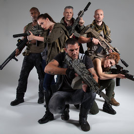 Post Apoc Group stock photos