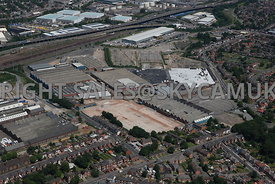 Birmingham aerial photograph of the Industrial area of Drews Lane and Washwood Heath