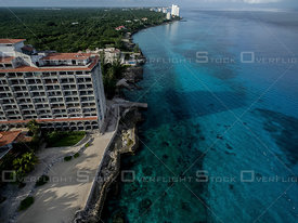 Deserted beach hotel, Cozumel Mexico