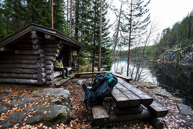 Lean-to shelter of Porttilampi
