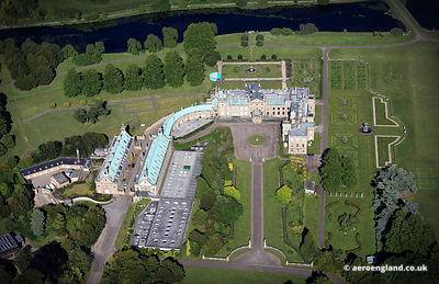 aerial photograph of Welbeck Abbey Nottinghamshire England UK