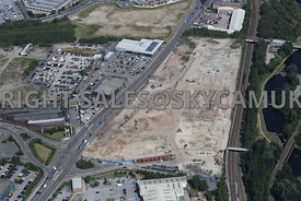 Don Valley Sheffield Road and Lockhouse Road old industrial site being cleared and redeveloped Sheffield