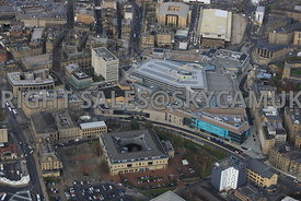 Bradford aerial photograph of the newly constructed  Broadway Shopping centre