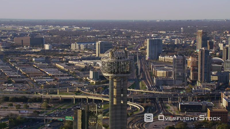 Dallas, Texas Aerial view of Dallas and Reunion Tower