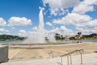 Pont Park Fountain and Heinz Field- Pittsburgh, Pennsylvania